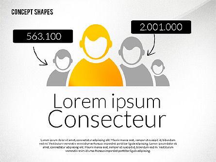 Concept Shapes, Slide 6, 02415, Shapes — PoweredTemplate.com