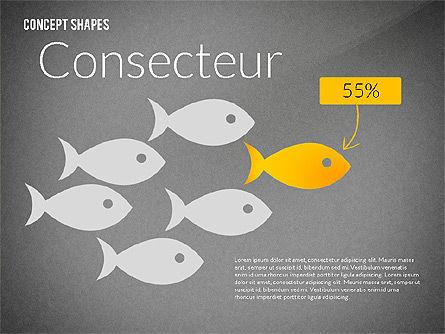 Concept Shapes, Slide 9, 02415, Shapes — PoweredTemplate.com