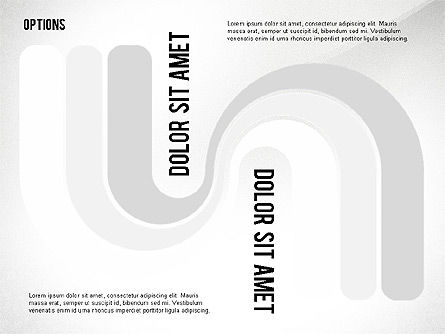 Curved Ribbon Options Shapes, Slide 5, 02418, Stage Diagrams — PoweredTemplate.com