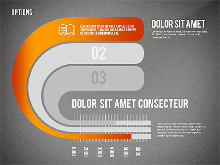 Curved Ribbon Options Shapes, Slide 9, 02418, Stage Diagrams — PoweredTemplate.com