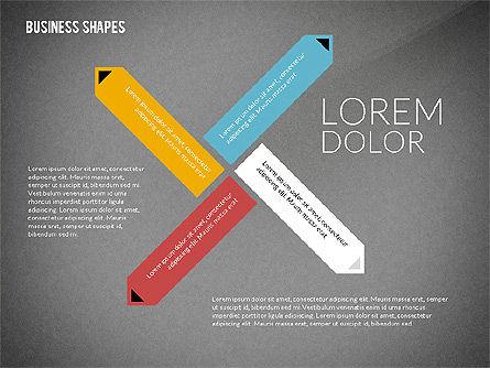 Flat Designed Colored Shapes, Slide 16, 02419, Shapes — PoweredTemplate.com