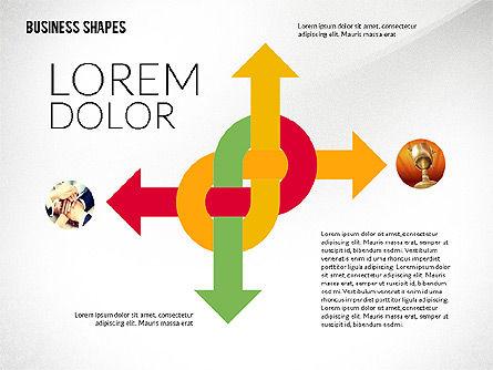 Flat Designed Colored Shapes Slide 3