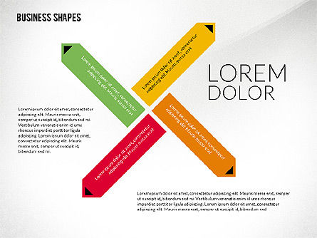 Flat Designed Colored Shapes, Slide 8, 02419, Shapes — PoweredTemplate.com