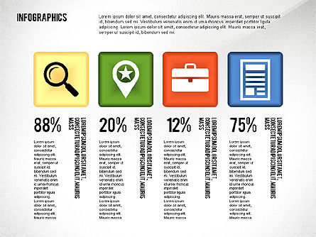 Infographics with Icons Toolbox, Slide 2, 02420, Infographics — PoweredTemplate.com