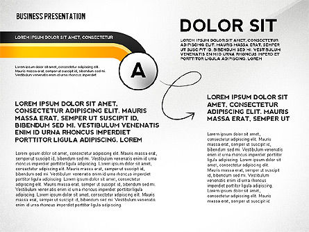 Presentation Templates: Business Presentation with Stages and Labels #02421