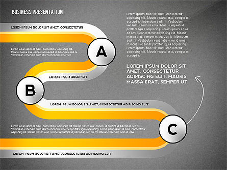 Business Presentation with Stages and Labels, Slide 11, 02421, Presentation Templates — PoweredTemplate.com