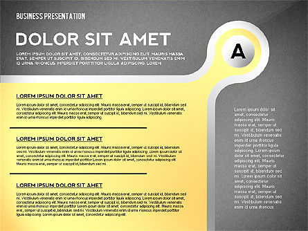Business Presentation with Stages and Labels, Slide 12, 02421, Presentation Templates — PoweredTemplate.com