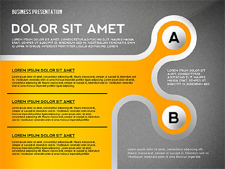 Business Presentation with Stages and Labels, Slide 13, 02421, Presentation Templates — PoweredTemplate.com