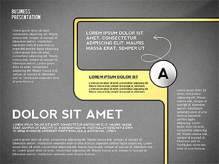 Business Presentation with Stages and Labels, Slide 14, 02421, Presentation Templates — PoweredTemplate.com