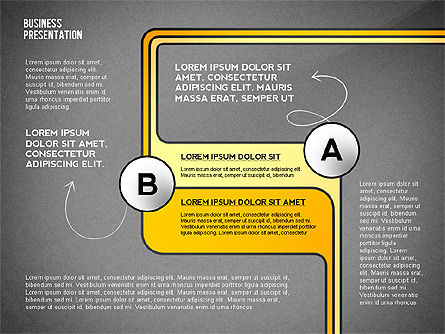 Business Presentation with Stages and Labels, Slide 15, 02421, Presentation Templates — PoweredTemplate.com