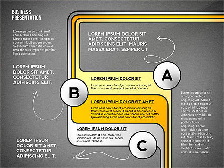 Business Presentation with Stages and Labels, Slide 16, 02421, Presentation Templates — PoweredTemplate.com
