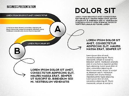 Business Presentation with Stages and Labels, Slide 2, 02421, Presentation Templates — PoweredTemplate.com