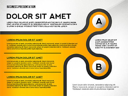Business Presentation with Stages and Labels, Slide 5, 02421, Presentation Templates — PoweredTemplate.com