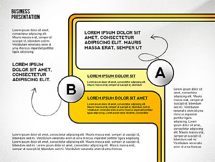 Business Presentation with Stages and Labels, Slide 7, 02421, Presentation Templates — PoweredTemplate.com
