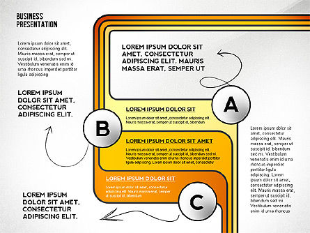 Business Presentation with Stages and Labels, Slide 8, 02421, Presentation Templates — PoweredTemplate.com