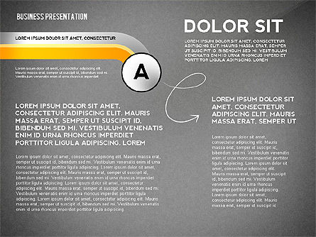 Business Presentation with Stages and Labels, Slide 9, 02421, Presentation Templates — PoweredTemplate.com