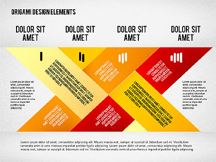 Weave Ribbons, Slide 4, 02422, Stage Diagrams — PoweredTemplate.com