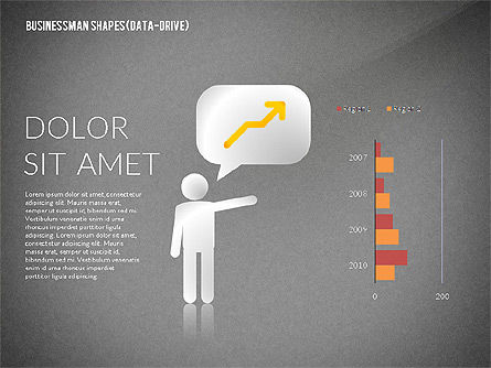 Presentation Template with Shapes and Silhouettes, Slide 11, 02423, Presentation Templates — PoweredTemplate.com