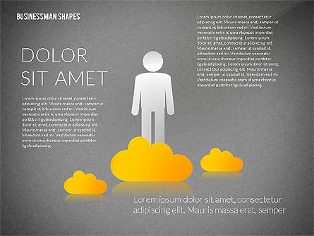 Presentation Template with Shapes and Silhouettes, Slide 13, 02423, Presentation Templates — PoweredTemplate.com