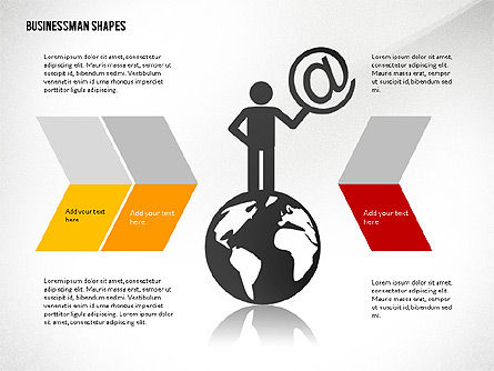 Presentation Template with Shapes and Silhouettes, Slide 2, 02423, Presentation Templates — PoweredTemplate.com