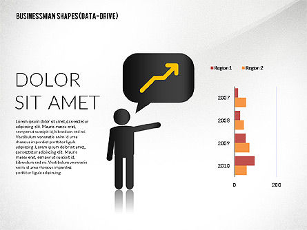 Presentation Template with Shapes and Silhouettes, Slide 3, 02423, Presentation Templates — PoweredTemplate.com