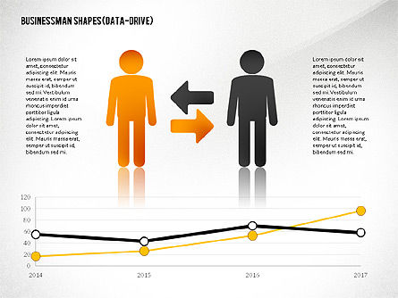 Presentation Template with Shapes and Silhouettes, Slide 4, 02423, Presentation Templates — PoweredTemplate.com