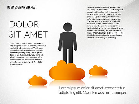 Presentation Template with Shapes and Silhouettes, Slide 5, 02423, Presentation Templates — PoweredTemplate.com