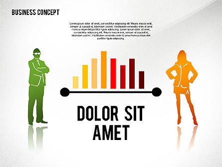 Silhouettes: Business Concept with Silhouettes #02424