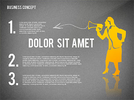 Business Concept with Silhouettes, Slide 10, 02424, Silhouettes — PoweredTemplate.com