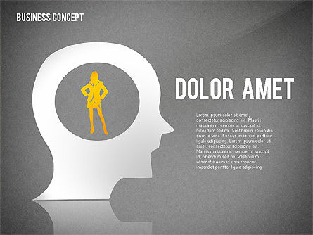 Business Concept with Silhouettes, Slide 14, 02424, Silhouettes — PoweredTemplate.com