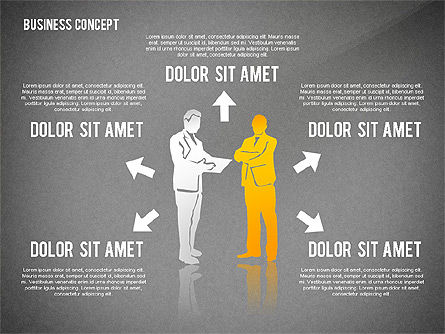 Business Concept with Silhouettes, Slide 16, 02424, Silhouettes — PoweredTemplate.com