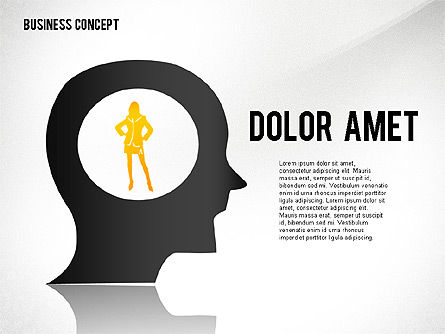 Business Concept with Silhouettes, Slide 6, 02424, Silhouettes — PoweredTemplate.com