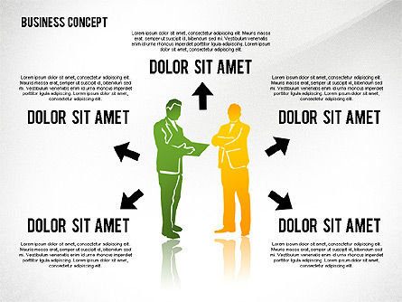 Business Concept with Silhouettes, Slide 8, 02424, Silhouettes — PoweredTemplate.com