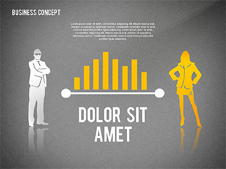 Business Concept with Silhouettes, Slide 9, 02424, Silhouettes — PoweredTemplate.com