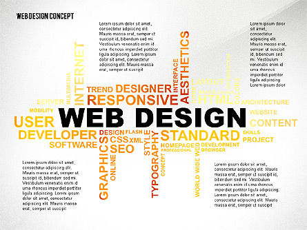 Business Models: Web Design World Cloud #02425