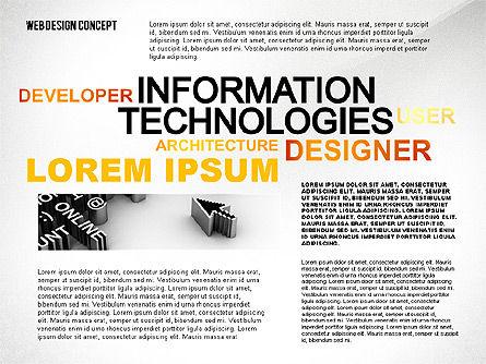 Web Design World Cloud, Slide 2, 02425, Business Models — PoweredTemplate.com