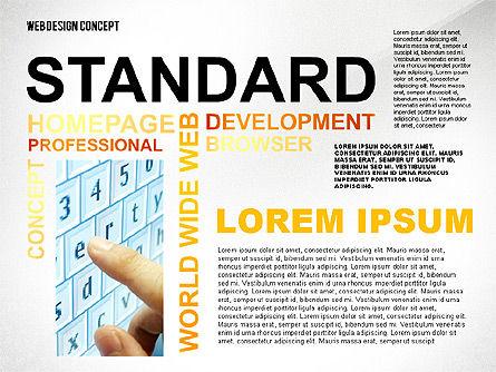 Web Design World Cloud, Slide 4, 02425, Business Models — PoweredTemplate.com