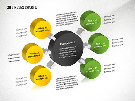 Business Models: 3D Circles Charts #02426