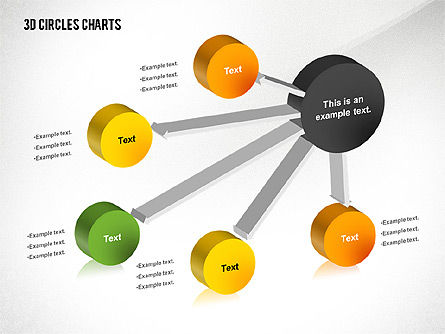3D Circles Charts, Slide 3, 02426, Business Models — PoweredTemplate.com