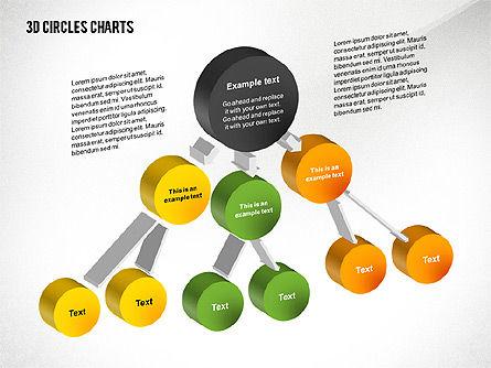 3D Circles Charts, Slide 4, 02426, Business Models — PoweredTemplate.com