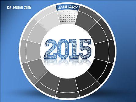Round Calendar 2015, 02432, Timelines & Calendars — PoweredTemplate.com