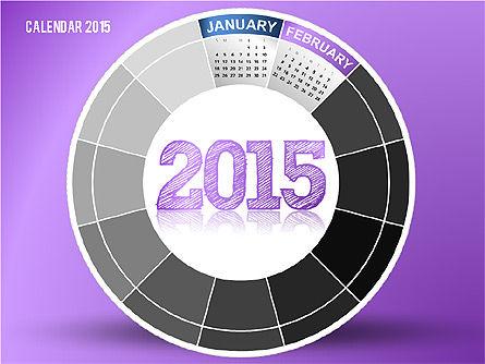 Round Calendar 2015, Slide 2, 02432, Timelines & Calendars — PoweredTemplate.com