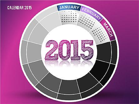 Round Calendar 2015, Slide 3, 02432, Timelines & Calendars — PoweredTemplate.com