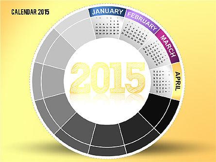 Round Calendar 2015, Slide 4, 02432, Timelines & Calendars — PoweredTemplate.com