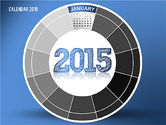 Timelines & Calendars: Round Calendar 2015 #02432