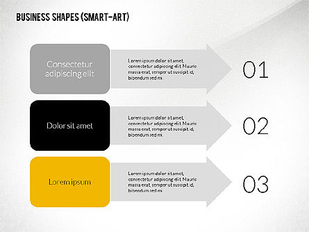Business Presentation with Smart-Art Objects, Slide 3, 02435, Presentation Templates — PoweredTemplate.com