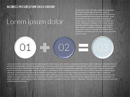 Data Driven Colored Business Presentation, Slide 10, 02437, Presentation Templates — PoweredTemplate.com