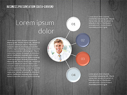 Data Driven Colored Business Presentation, Slide 11, 02437, Presentation Templates — PoweredTemplate.com