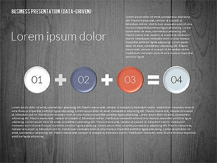 Data Driven Colored Business Presentation, Slide 14, 02437, Presentation Templates — PoweredTemplate.com