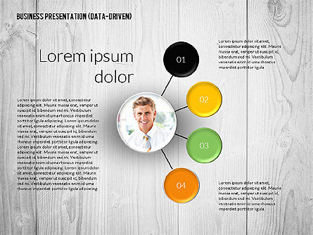 Data Driven Colored Business Presentation, Slide 3, 02437, Presentation Templates — PoweredTemplate.com